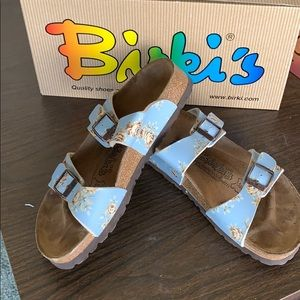 BIRKENSTOCK ORIGINAL BIRKI'S Michele Blue flower